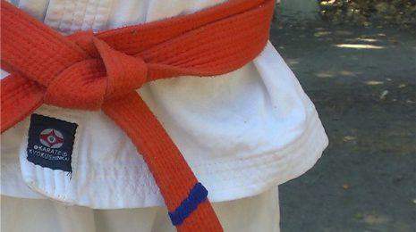 Как пришить полоску на пояс для киокушинкай карате