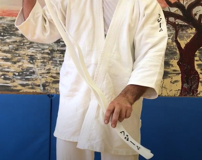как завязывать пояс на кимоно айкидо