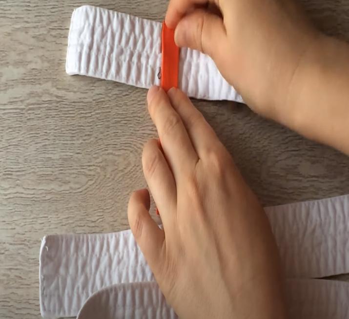 пришить полоску на пояс для киокушинкай карате