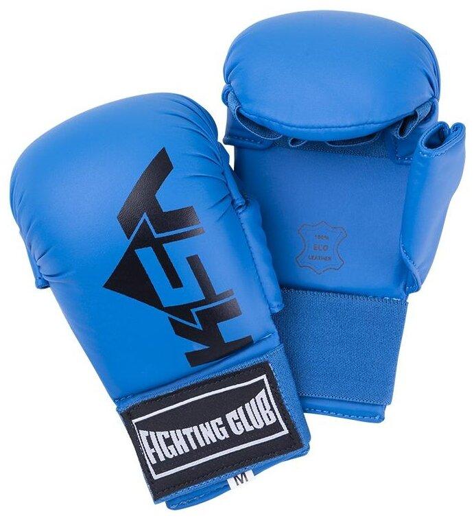 Перчатки KSA Kick для карате голубой L